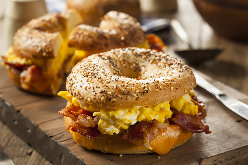 Bagel met bacon