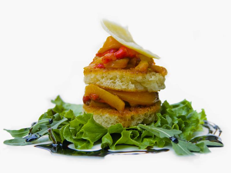 Bruchetta met geroosterde paprika