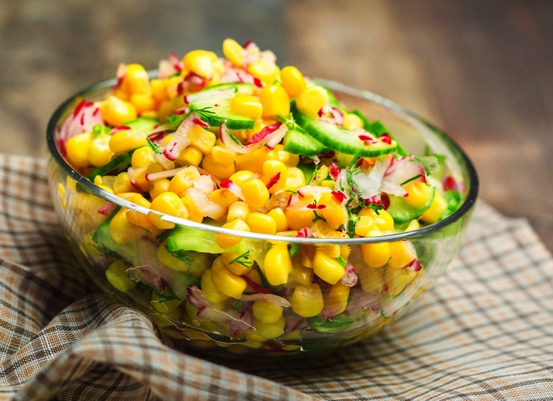 Maissalade met radijs