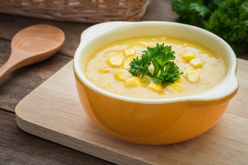 Romige maissoep