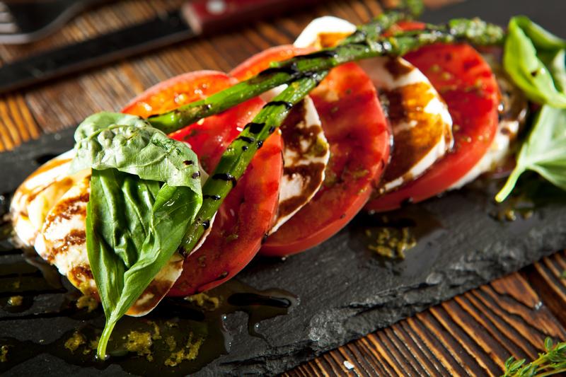 Salade caprese met balsamico dressing