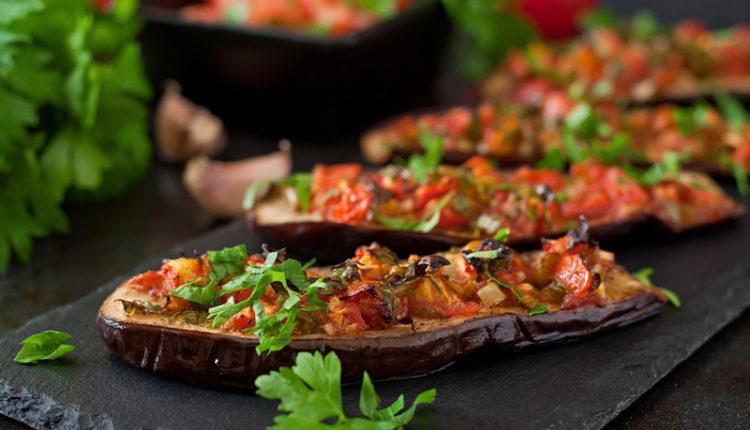 Vegetarische gezonde pizza