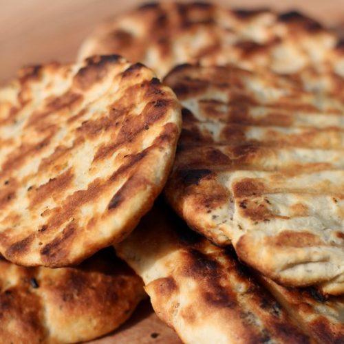 Platbrood van de BBQ